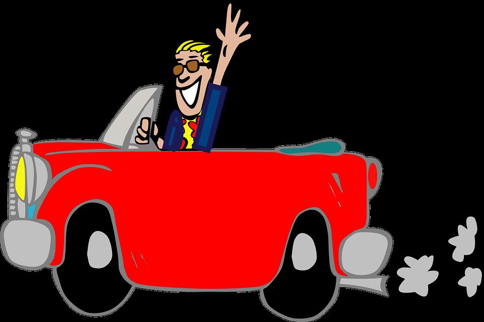Man car fun free vector graphic on pixabay man car fun greeting grinning suit cartoon red m4hsunfo