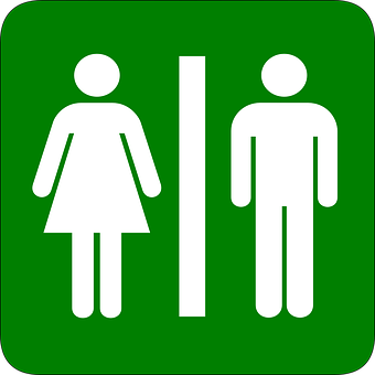 Man, Woman, Restroom, Bathroom