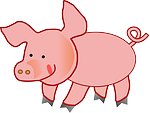 pink, pig, fat