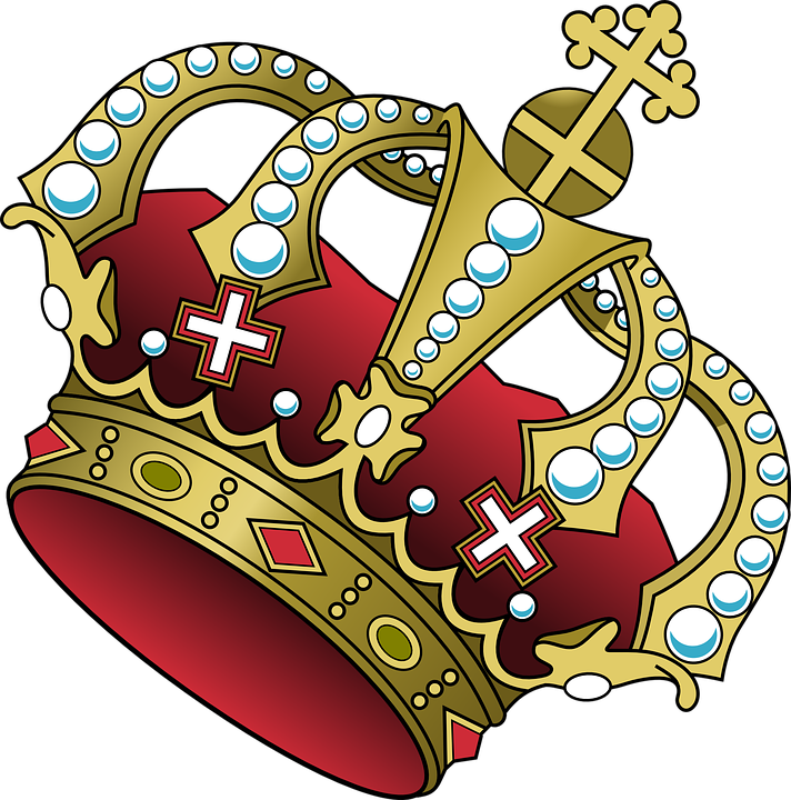 Free vector graphic Crown Cross Jewelry Red Power Free
