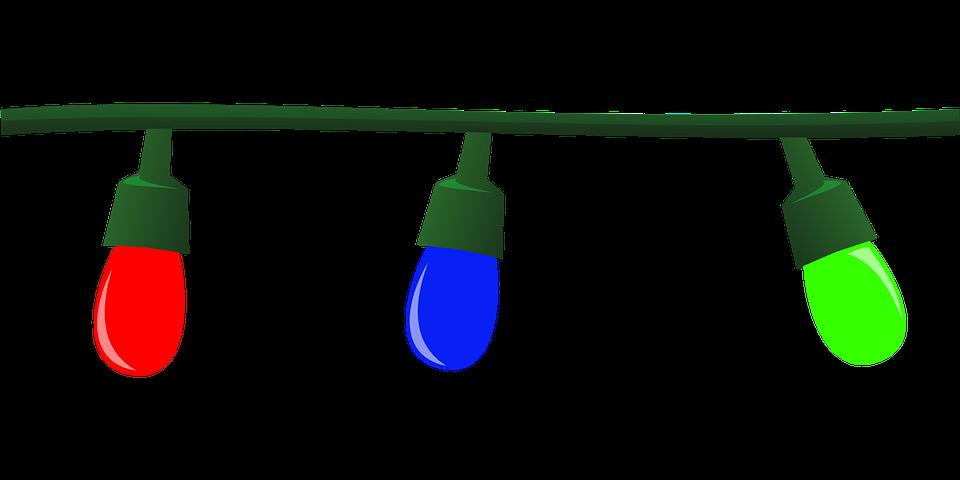 Guirlande Lumineuse En étoile Png : Image vectorielle gratuite guirlande lumineuse festive