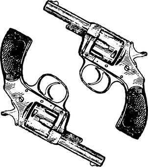 pistol vector graphics pixabay download free images LEGO Tommy Gun guns revolver two weapon pistols