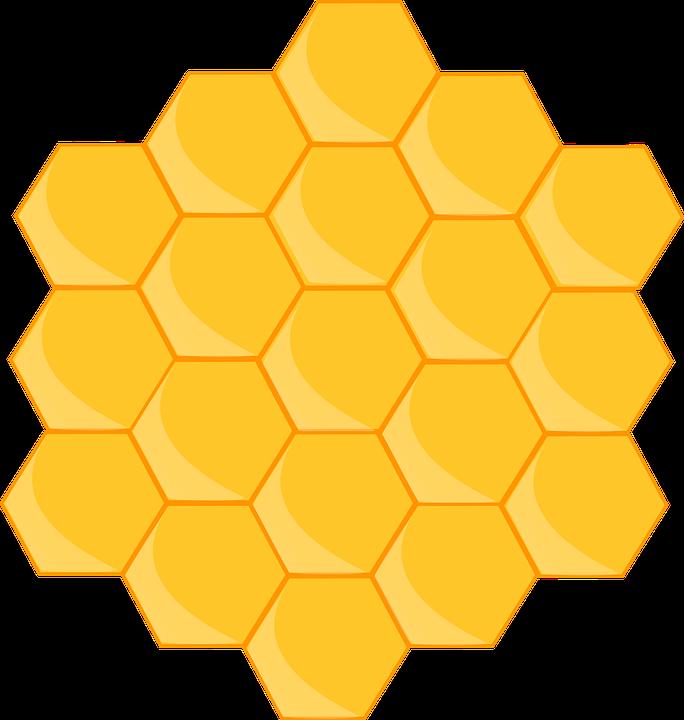Honeycomb Bee Shape Hexagon Hive