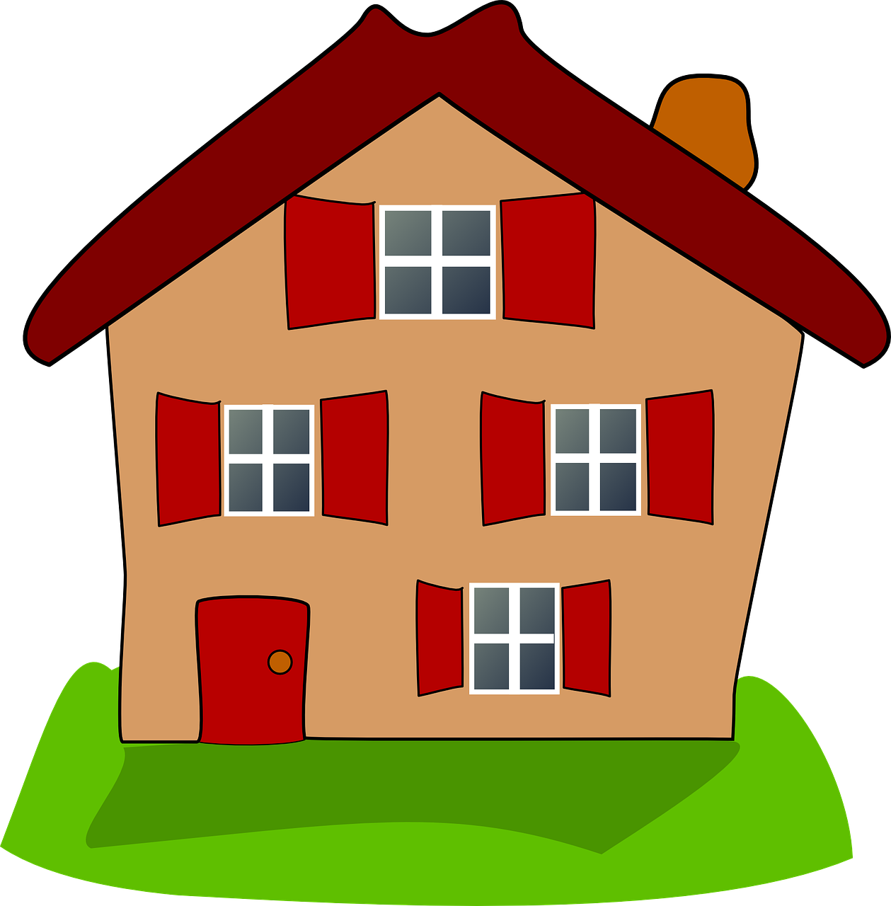 Картинки домика для детей с окошками, картинки про
