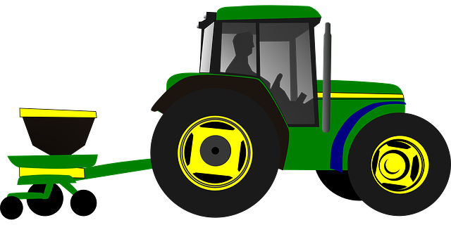Free Vector Graphic: Tractor, Planting, Planter, Corn