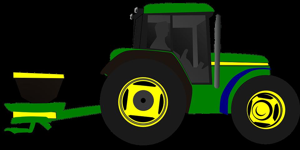 Tractor Clip Art Transparent : Free vector graphic tractor planting planter corn