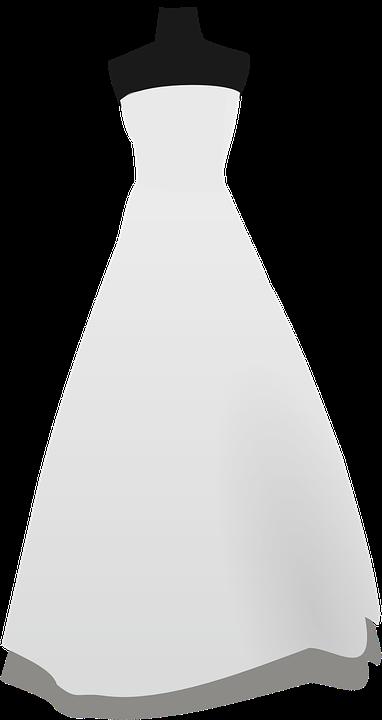Vestido De Novia Blanco Gráficos Vectoriales Gratis En Pixabay