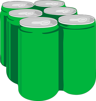 Beverage, Soda, Cans, Tins, Green