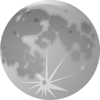 Full Moon, Moon, Lunar, Globe, Planet