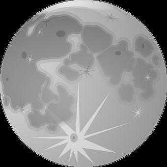 Full Moon, Moon, Lunar, Globe, Planet