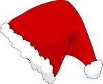 hat, christmas, slanted