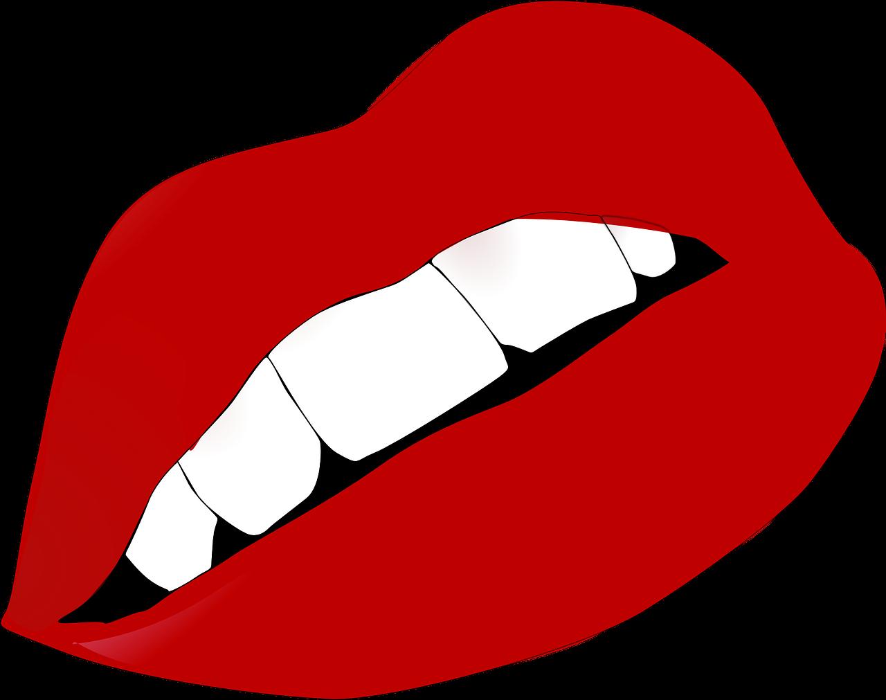 Открытка, губы с зубами картинка
