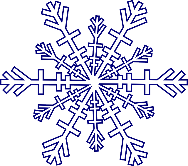 snowflake winter cold free vector graphic on pixabay. Black Bedroom Furniture Sets. Home Design Ideas