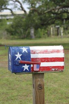 Mailbox Letterbox Patriotic Us Freedom Uni