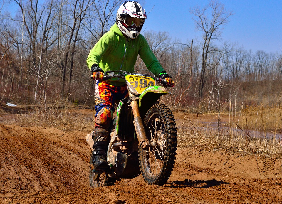 free photo dirt bike jump mud motorcycle free image