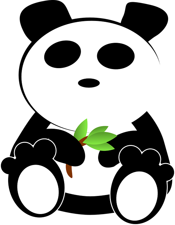 Bamboo Panda Eating Free Vector Graphic On Pixabay