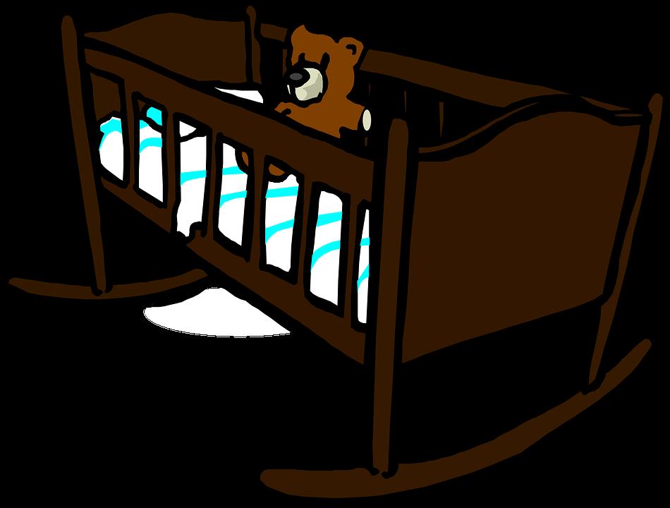 image vectorielle gratuite berceau lit d 39 enfant b b image gratuite sur pixabay 308342. Black Bedroom Furniture Sets. Home Design Ideas