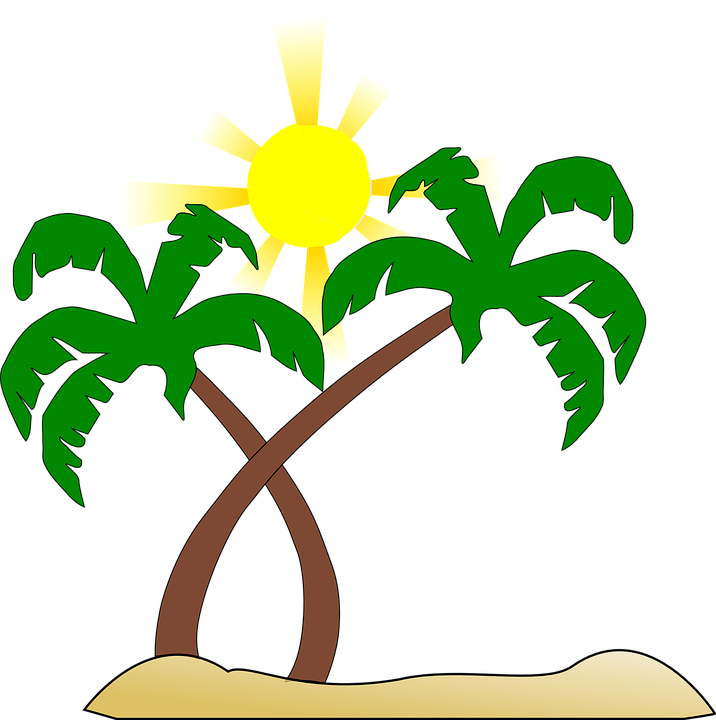 beach palm tree sun free vector graphic on pixabay rh pixabay com beach vector free beach vector clip art
