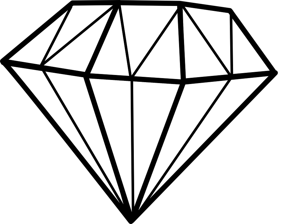 Line Drawing Jewel : Diamond chrystal gem · free vector graphic on pixabay