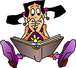 girl, book, read