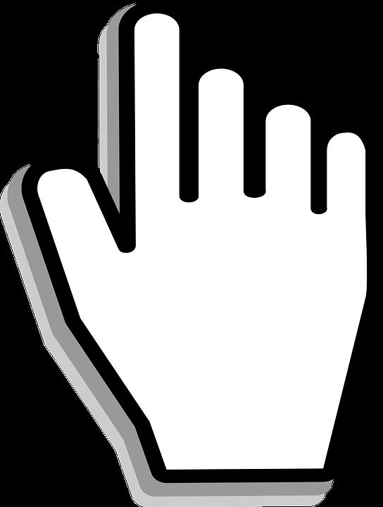 image vectorielle gratuite  main  curseur  ombre  cliquez