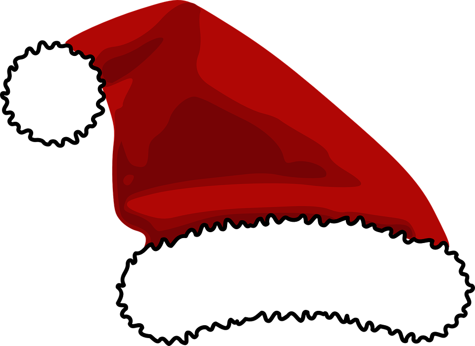 free vector graphic hat santa christmas red white