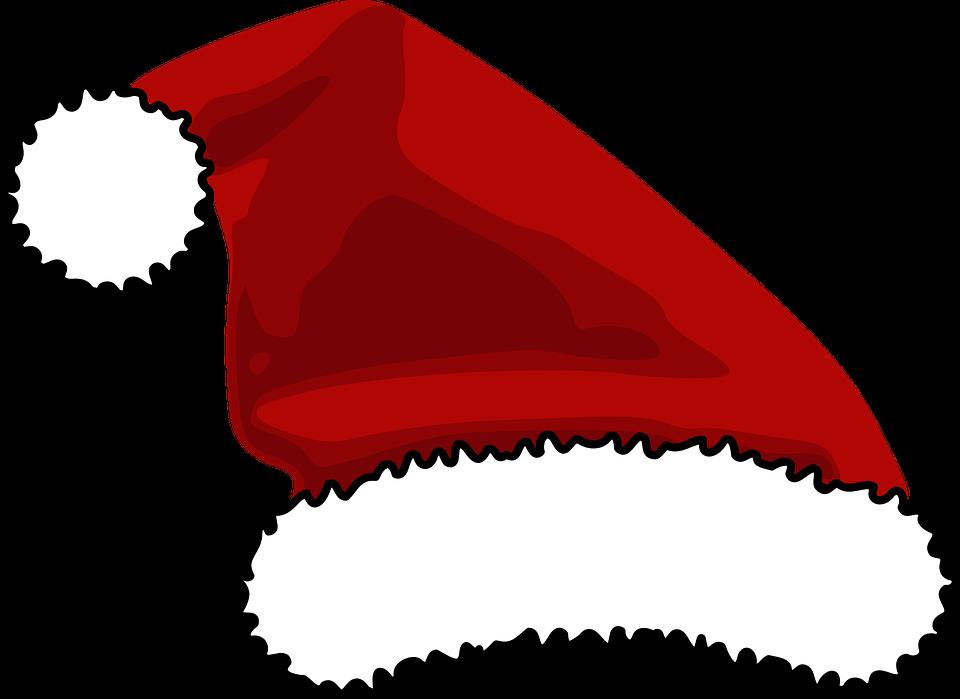 hat santa christmas free vector graphic on pixabay rh pixabay com