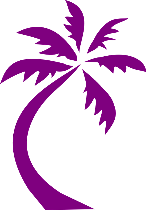 palm tree design purple free vector graphic on pixabay rh pixabay com vector palm tree clip art vector palm trees black and white