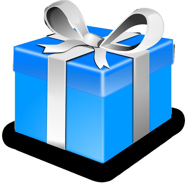 Presente regalo azul gr ficos vectoriales gratis en pixabay for In regalo gratis