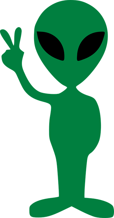 alien gesture peace victory 183 free vector graphic on pixabay