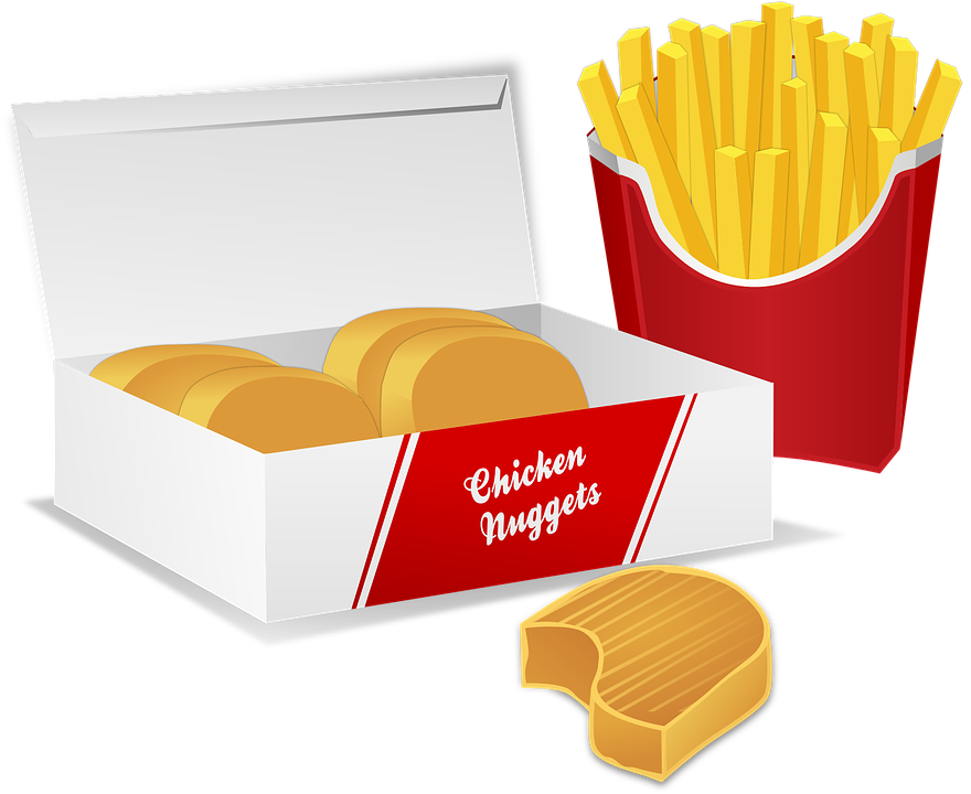Chicken Nuggets Potato Chips Free Vector Graphic On Pixabay