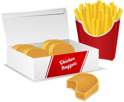 Chicken Nuggets Potato Chips French Fries