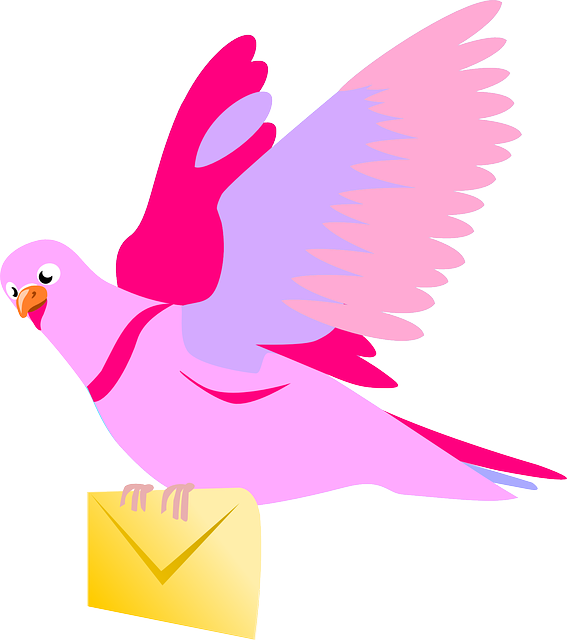 Carrier Pigeon Letter Pink 183 Free Vector Graphic On Pixabay