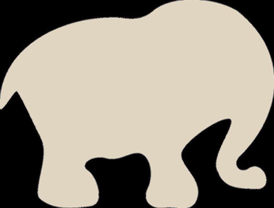 Elefante Dibujos Animados Silueta Graficos Vectoriales Gratis En