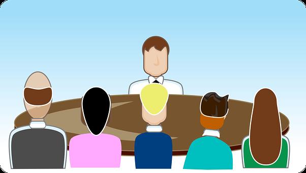 マネージャー, 人, グループ, 会議, 評価センター, 就職の面接, ビジネス
