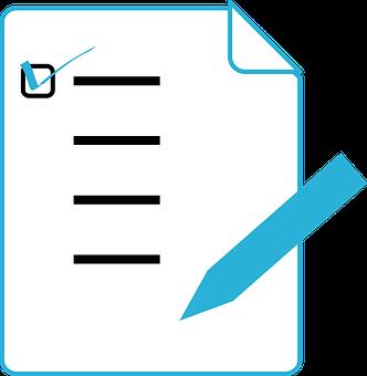 Pencil, Marks, Notes, Agenda, List