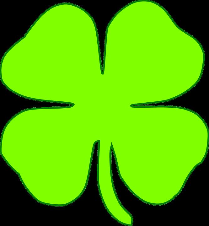 Free vector graphic: Shamrock, Four, Leaves, Light Green ...