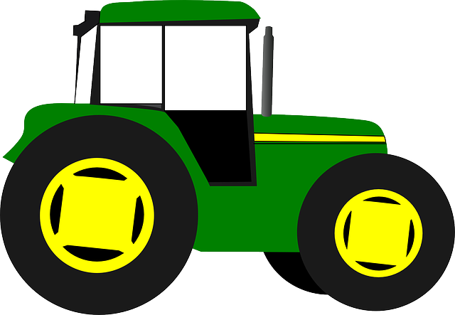 Animated John Deere Tractor Outline : Tractor trekker farm · free vector graphic on pixabay