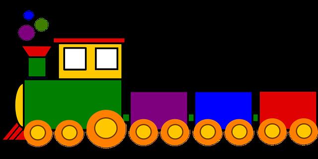 Toy Train Graphics : Trem brinquedo colorido · gráfico vetorial grátis no pixabay