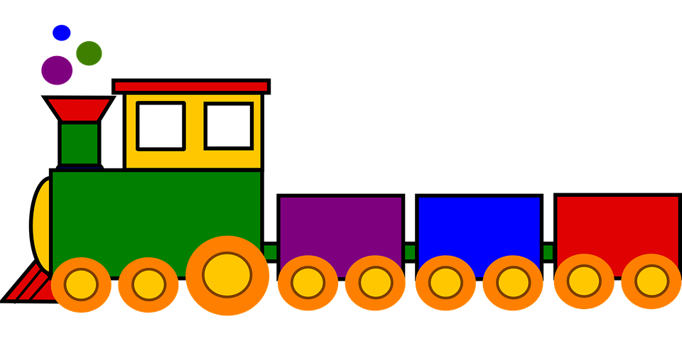 Kostenlose vektorgrafik zug spielzeug bunte lokomotive