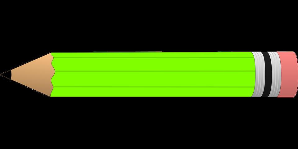 Bút Chì Màu Xanh Lá Cây Tẩy Miễn Phí Vector Hình ảnh Trên
