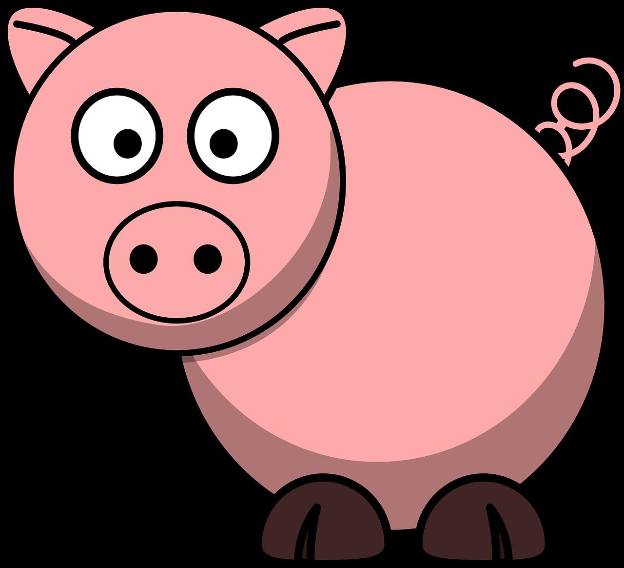 Свинья рисунок