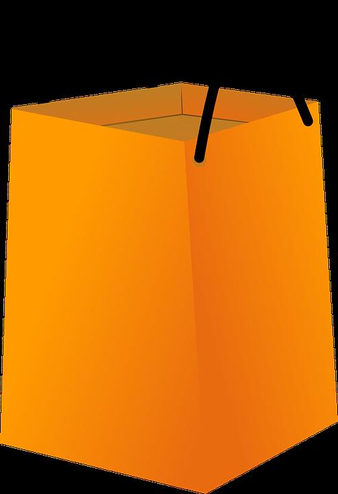 Free vector graphic: Shopping Bag, Orange, Empty, Big - Free Image ...