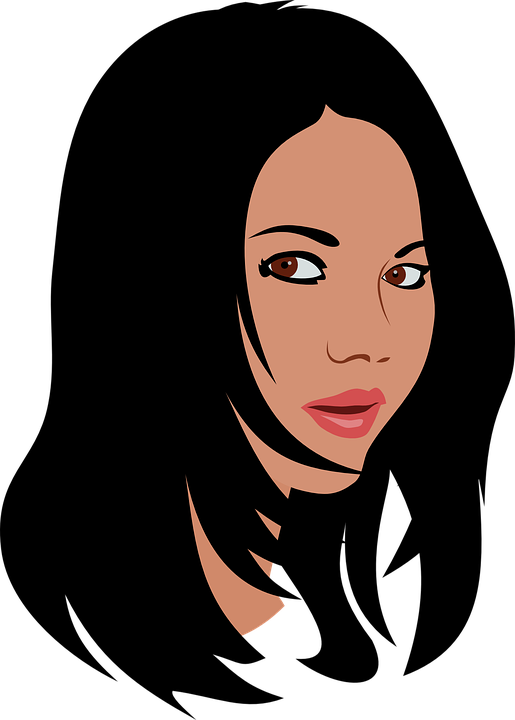 Woman Black Hair Long Mouth Free Vector Graphic On Pixabay
