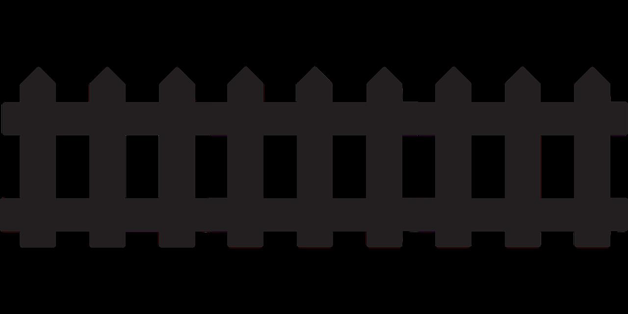 Раскраска для детей заборчик