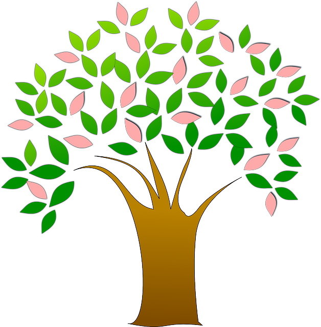 tree fresh leaves 183 free vector graphic on pixabay