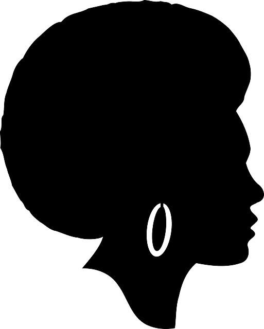 Free Vector Graphic Woman, Head, Afro, Silhouette - Free -4563