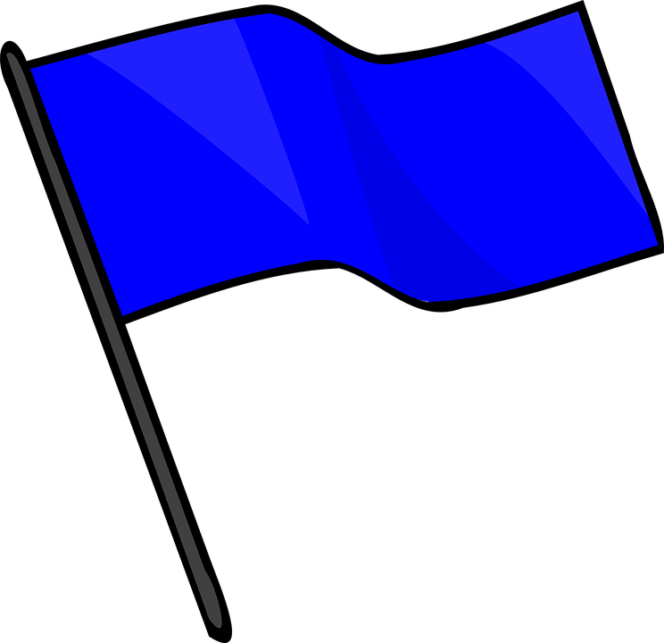 Blue Flag Capture Free Vector Graphic On Pixabay
