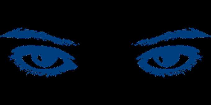 Eyes, Eyebrows, Yellow, Female, Blue