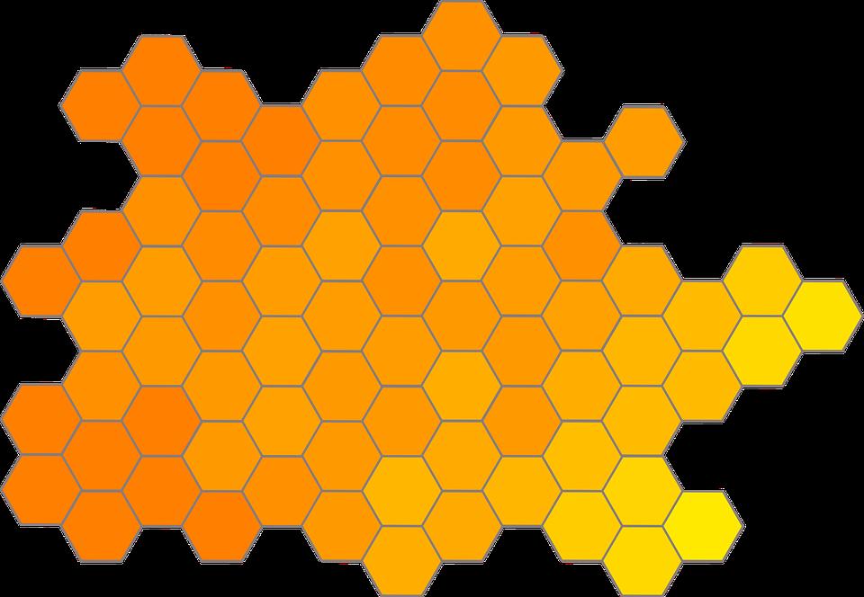Honeycomb Gradient Hexagon Free Vector Graphic On Pixabay